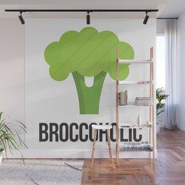 Broccoholic—Vegan & Vegetarian Must-have Wall Mural