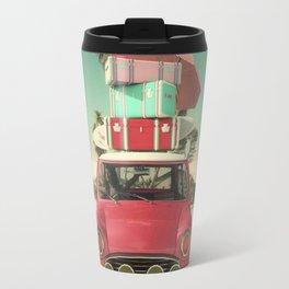 travel car in the beach Travel Mug