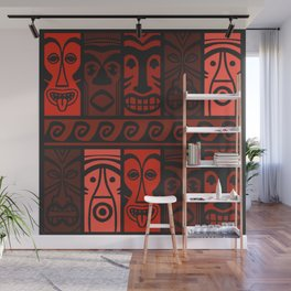 Lava Red Tikis! Wall Mural