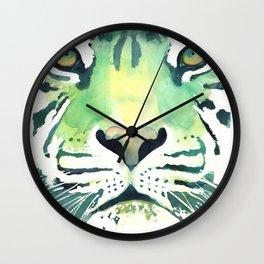 Green Tiger Wall Clock