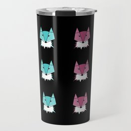 Neon Foxes Travel Mug