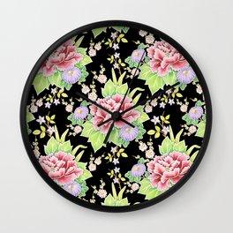 Kimono Bouquet Chintz Wall Clock