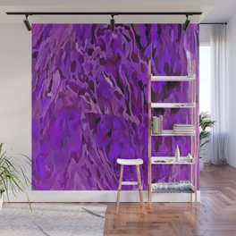 Distressed Violet Tree Bark Abstract Wall Mural