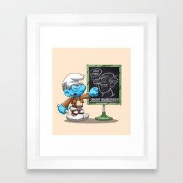 Attack on Titan Smurf Edition Framed Art Print