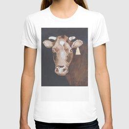 Gold Earring - Cow portrait T-shirt