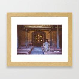 Temple Sticky Notes Framed Art Print