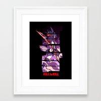 kill la kill Framed Art Prints featuring Kill by feimyconcepts05
