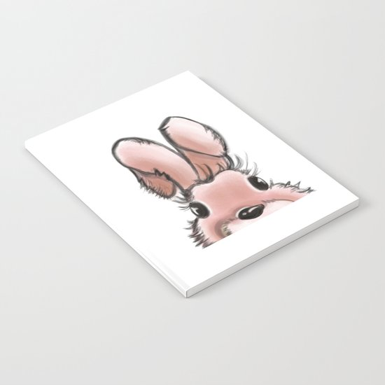 Pink rabbit Notebook