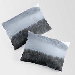 Fog rolling over spruce forest Pillow Sham