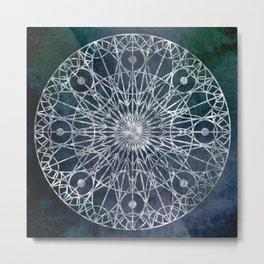 Rosette Window - Slate Metal Print