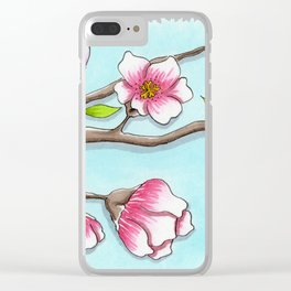 Almond Tree Clear iPhone Case