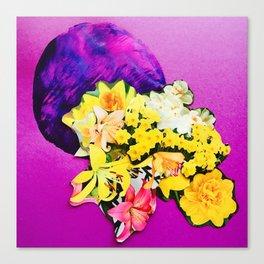 Garden Circle - Violet Canvas Print