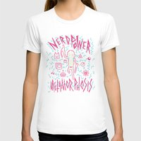 8bit T-shirts featuring NERD POWER METAMORPHOSIS / 8BIT by UNDEAD MISTER / MRCLV