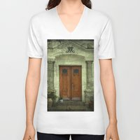 portal V-neck T-shirts featuring Portal by freedom-of-art