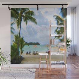 A Dreamy Day at a Tahitian Beach, Bora Bora Wall Mural
