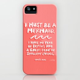I Must Be A Mermaid – Coral Palette iPhone Case