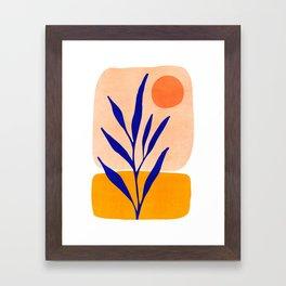 Golden Afternoon II / Abstract Landscape Framed Art Print