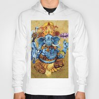 ganesh Hoodies featuring Ganesh by RICHMOND ART STUDIO