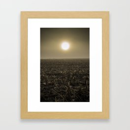 Early Foggy Spring in Wisconsin Framed Art Print