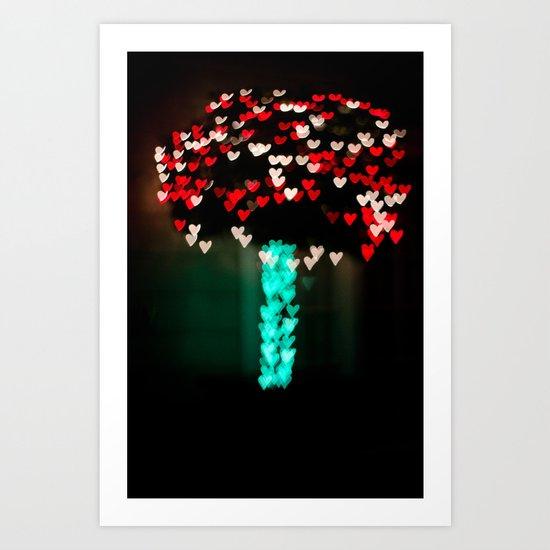 Growing Hearts Art Print