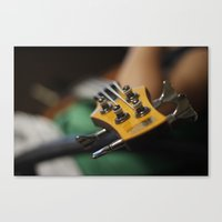 bass Canvas Prints featuring Bass by Gaby Mabromata