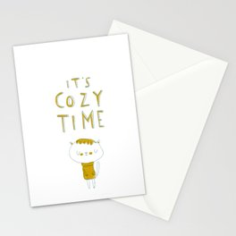 it's cozy time Stationery Cards