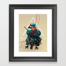 Ghost in the shell tribute Framed Art Print
