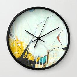 October - Square Abstarct Expressionism Wall Clock