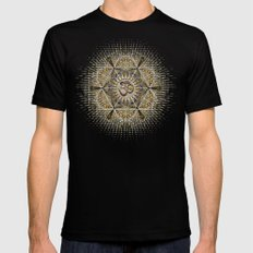 Bohemian Yoga Om Geometry MEDIUM Mens Fitted Tee Black