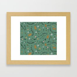 Fall patern Framed Art Print