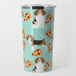 beagle pizza dog lover pet gifts cute beagles pure breeds Travel Mug