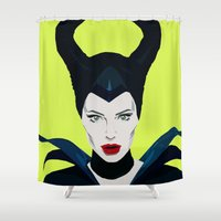 maleficent Shower Curtains featuring Maleficent by Mimoonx