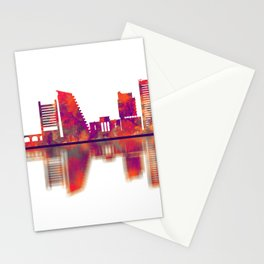 Nicosia Cyprus Skyline Stationery Cards