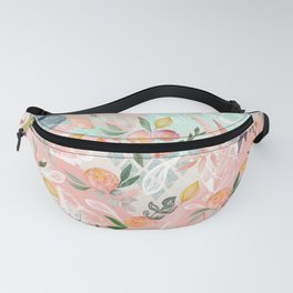 Abstract painting of flowers and plants Fanny Pack