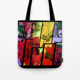 Mixed color Poinsettias 1 Tinted 2 Tote Bag