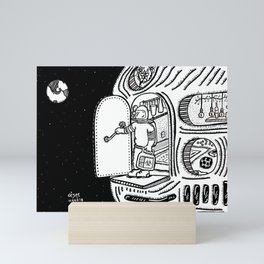 Space Monday/Lunes en en el espacio. Mini Art Print