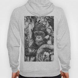 AnimalArtBW_Chimpanzee_20180201_by_JAMColors Hoody
