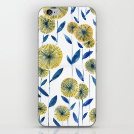 Yellow Floral Pattern iPhone Skin