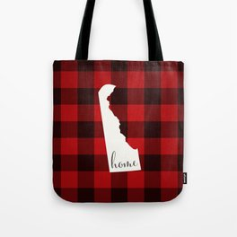Delaware is Home - Buffalo Check Plaid Tote Bag