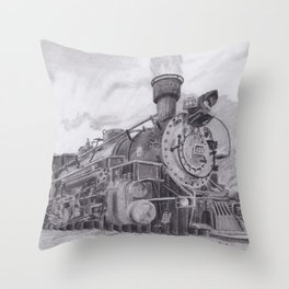 Durango and Silverton Steam Engine Throw Pillow