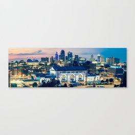 Union Station Kansas City Skyline Panoramic Canvas Print