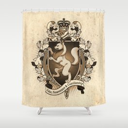 Wolf Coat Of Arms Heraldry Shower Curtain