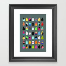 Colorful rain Framed Art Print