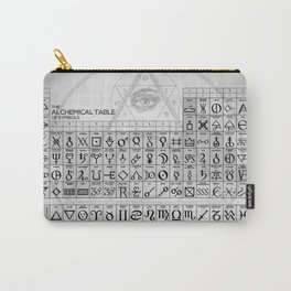 The Alchemical Table of Symbols Carry-All Pouch