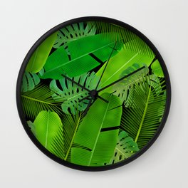 Plants leafs pattern iPhone 4 4s 5 5c 6 7, pillow case, mugs and tshirt Wall Clock