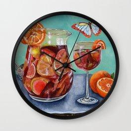 Sangria Summer Wall Clock