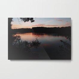 Meditation Lake Metal Print