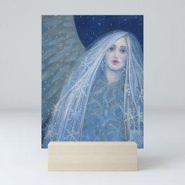 Snow Angel Metelitsa Winter Fantasy Art Mini Art Print