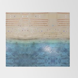 AERIAL. Summer beach Throw Blanket
