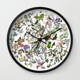 bird menagerie Wall Clock